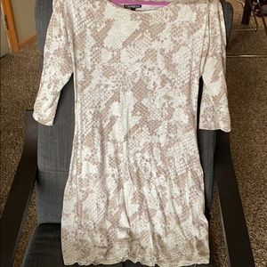 Express Snake Print Shift Dress
